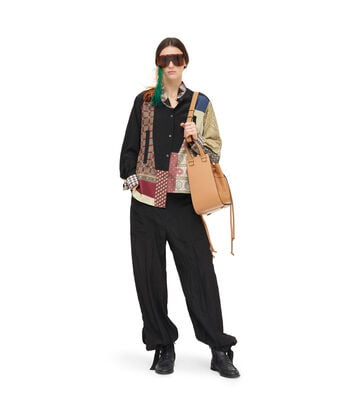 LOEWE Asym Scarf Shirt Patchwork Multicolor front