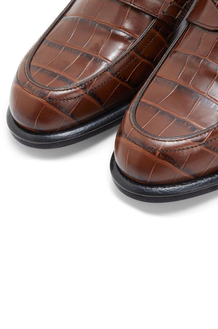 LOEWE Mocasín en piel de ternera sin cordones Marron/Negro pdp_rd