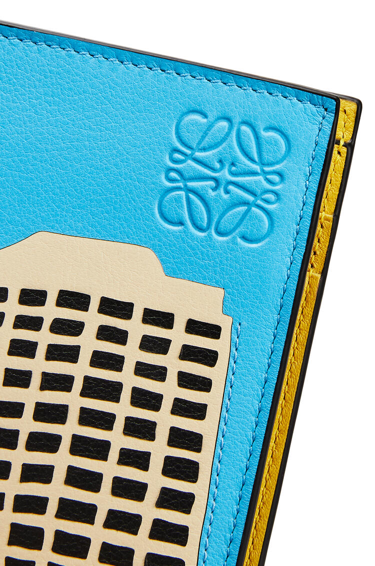 LOEWE L.A. Series bifold cardholder in classic calfskin Yellow/Multicolour pdp_rd