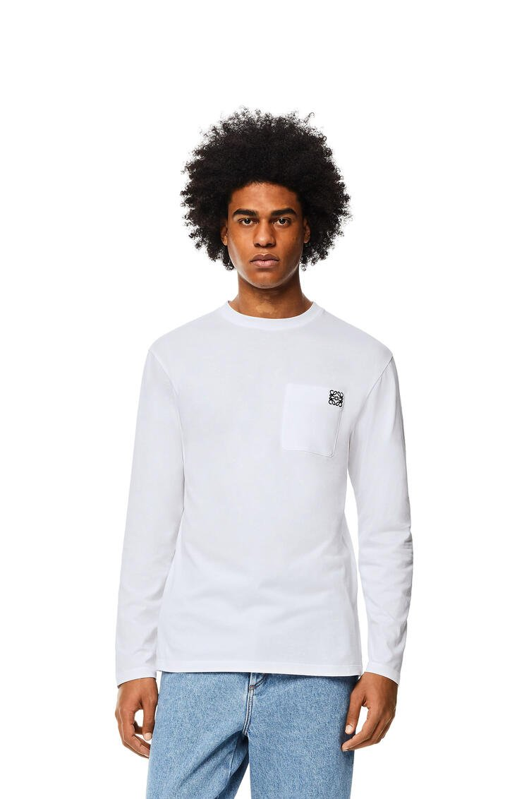 LOEWE Anagram long sleeve T-shirt in cotton White pdp_rd