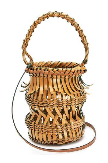 LOEWE Bucket Fringes Light Caramel front