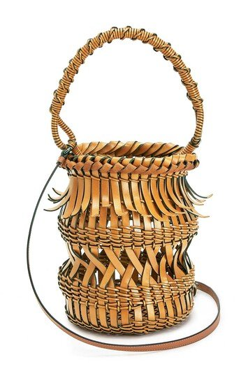 LOEWE Bucket Fringes Light Caramel front