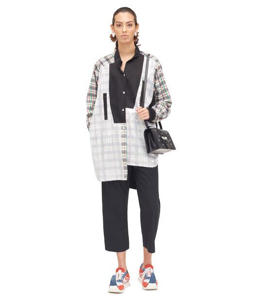 LOEWE Long Sequins Asymmetric Shirt Negro/Tartan Multicolor all