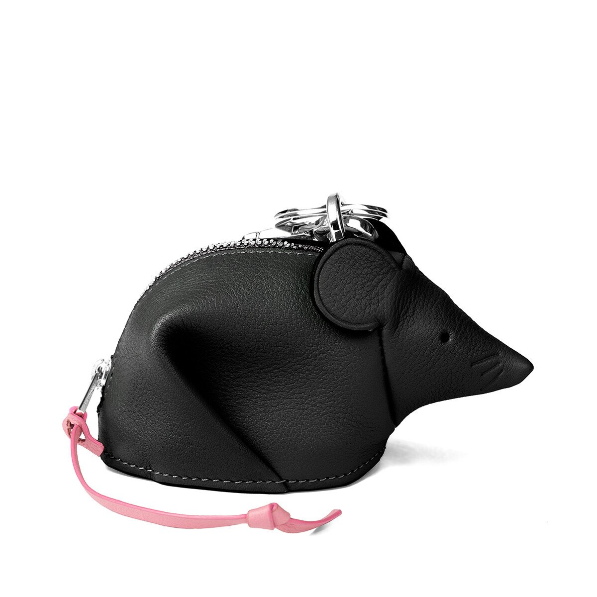 LOEWE Mouse Charm Black/Candy front