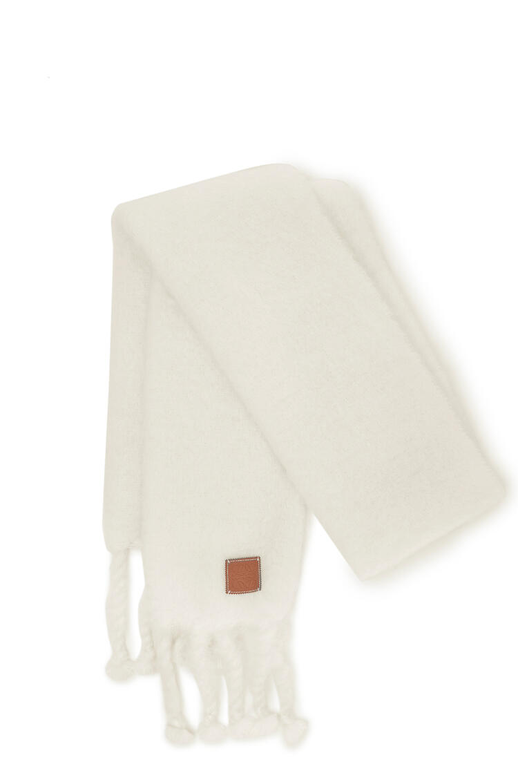 LOEWE Scarf in mohair and wool White pdp_rd