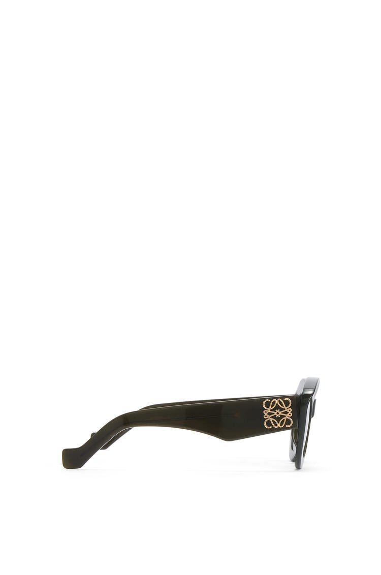 LOEWE Butterfly Anagram Fitted sunglasses in acetate Milky Khaki pdp_rd