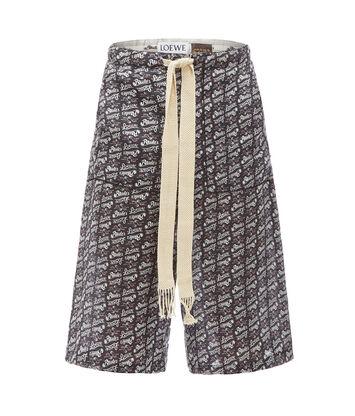 LOEWE Paula Print Shorts ブラック/ホワイト front