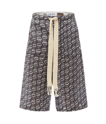 LOEWE Paula Print Shorts Black/White front