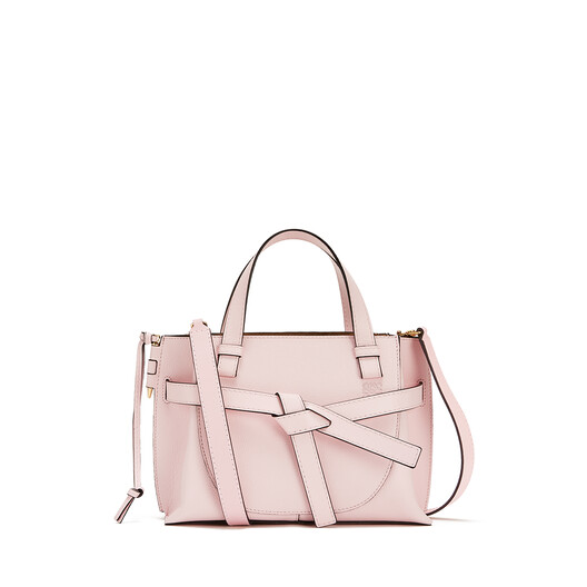 LOEWE Gate Top Handle Mini Bag Icy Pink front
