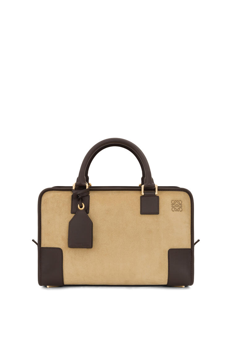 LOEWE Amazona bag in suede and calfskin Gold/Brown pdp_rd
