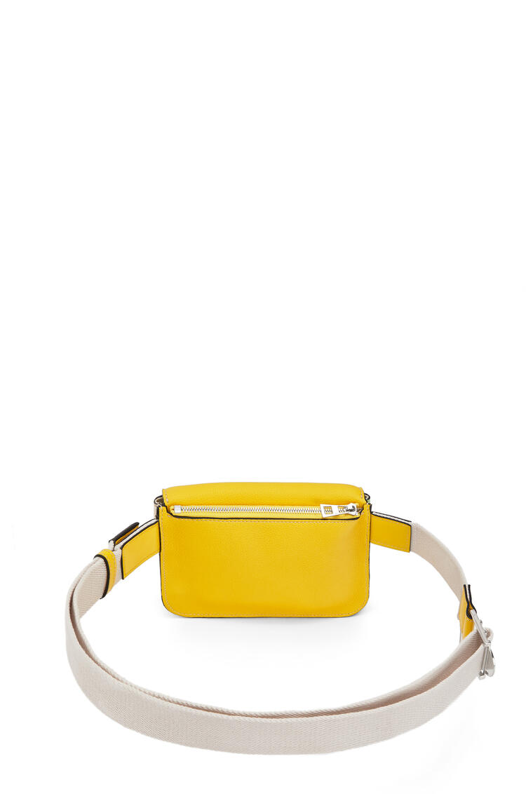 LOEWE Military Bumbag In Calfskin And Canvas Yellow/Multicolour pdp_rd