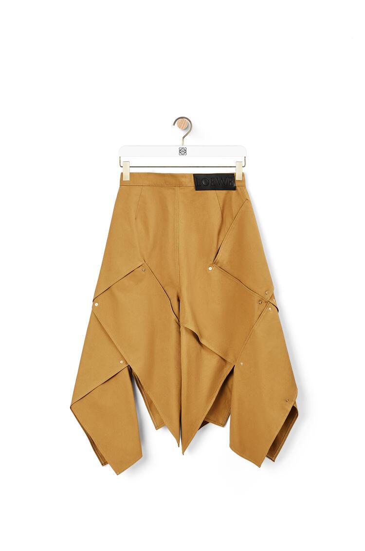 LOEWE Studded Panel Bermuda Shorts Camel pdp_rd