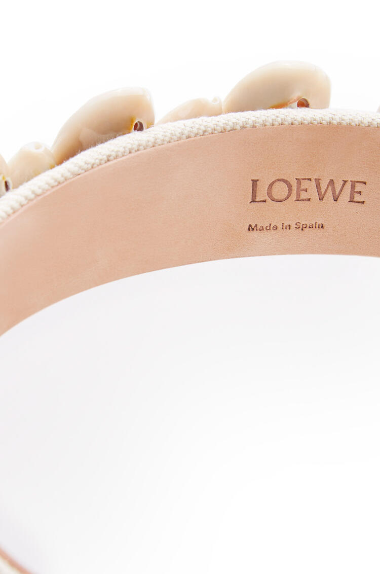 LOEWE Headband in textile and seashell Beige pdp_rd