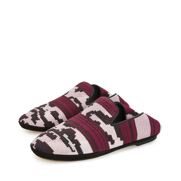LOEWE Tiger Slipper Pink/Burgundy front