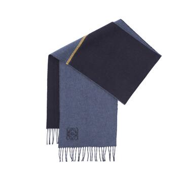 LOEWE 30X180 ウィンドウ スカーフ ストライプ yellow/blue front