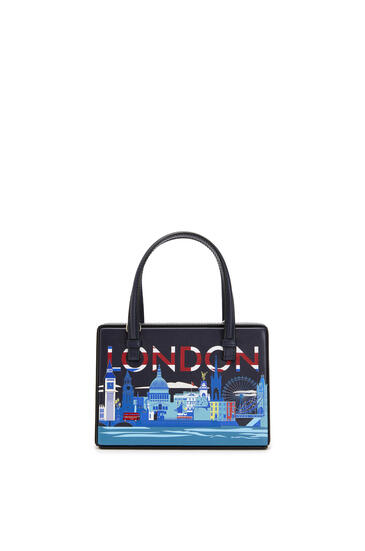 LOEWE Small London Postal bag in natural calfskin Midnight Blue pdp_rd