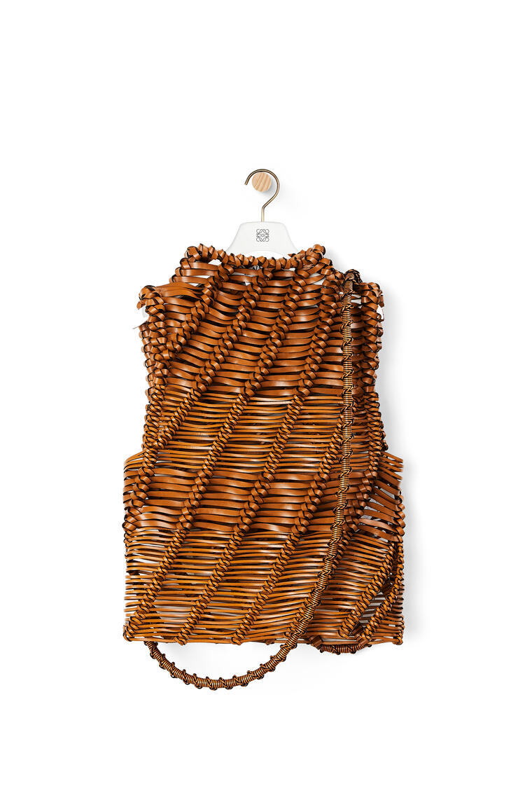 LOEWE Braided top in calfskin Tan pdp_rd