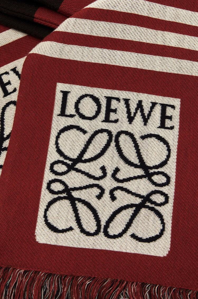 LOEWE 17 x 120 cm ロエベ ジャカード スカーフ(カシミヤ) レッド pdp_rd