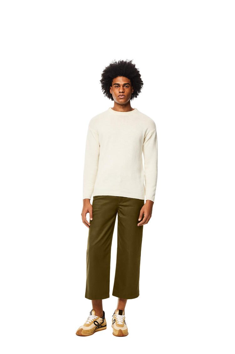 LOEWE Pantalón de trabajo en algodón Verde Kaki pdp_rd