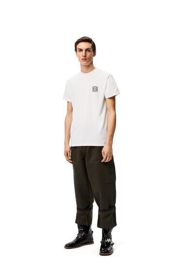LOEWE Camiseta en algodón con anagrama Blanco pdp_rd