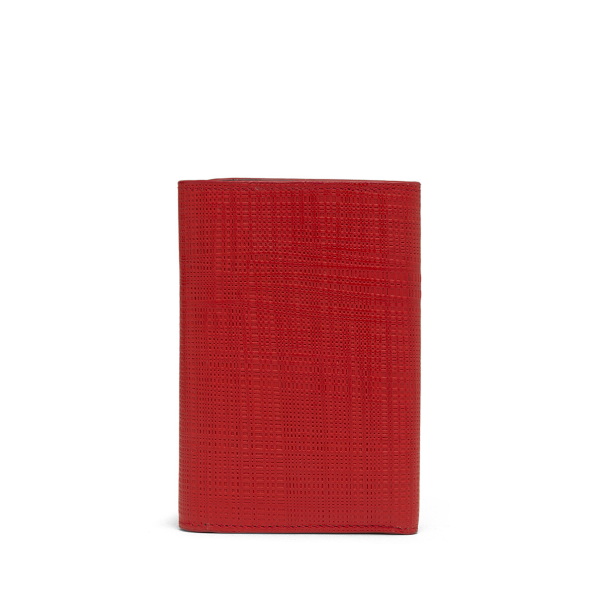 LOEWE Small Vertical Wallet Scarlet Red front