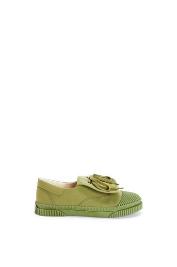 LOEWE 系带帆布运动鞋 Khaki Green pdp_rd