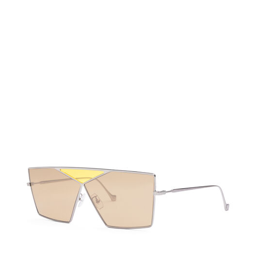LOEWE Square Puzzle Sunglasses Light Ruthenium/Brown all
