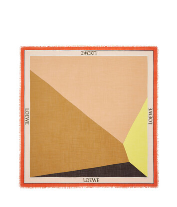 LOEWE 140X140 Scarf Puzzle Border 橙色 front