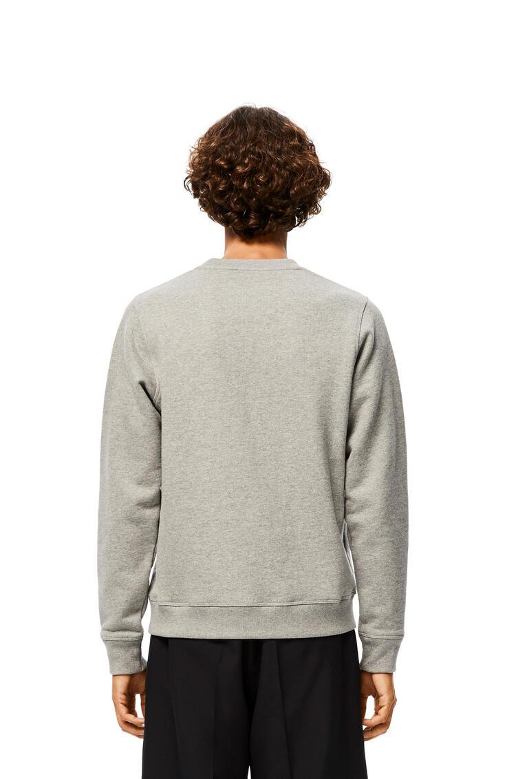 LOEWE アナグラム エンブロイダリー スウェットシャツ(コットン) grey melange pdp_rd