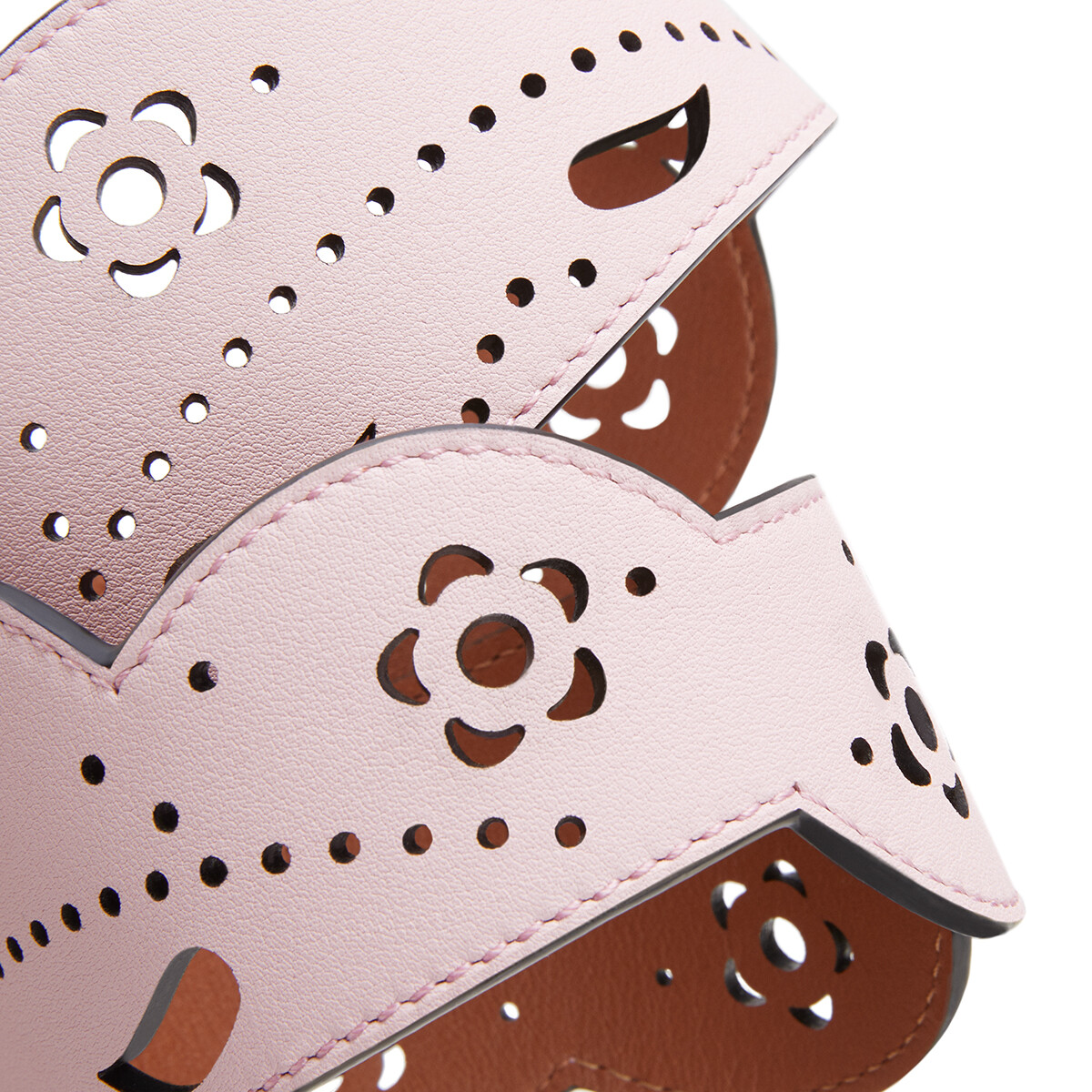 LOEWE Lace Strap Icy Pink/Tan front