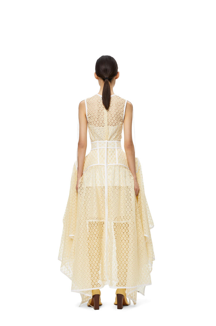 LOEWE Basque lace skirt in polyester Yellow pdp_rd