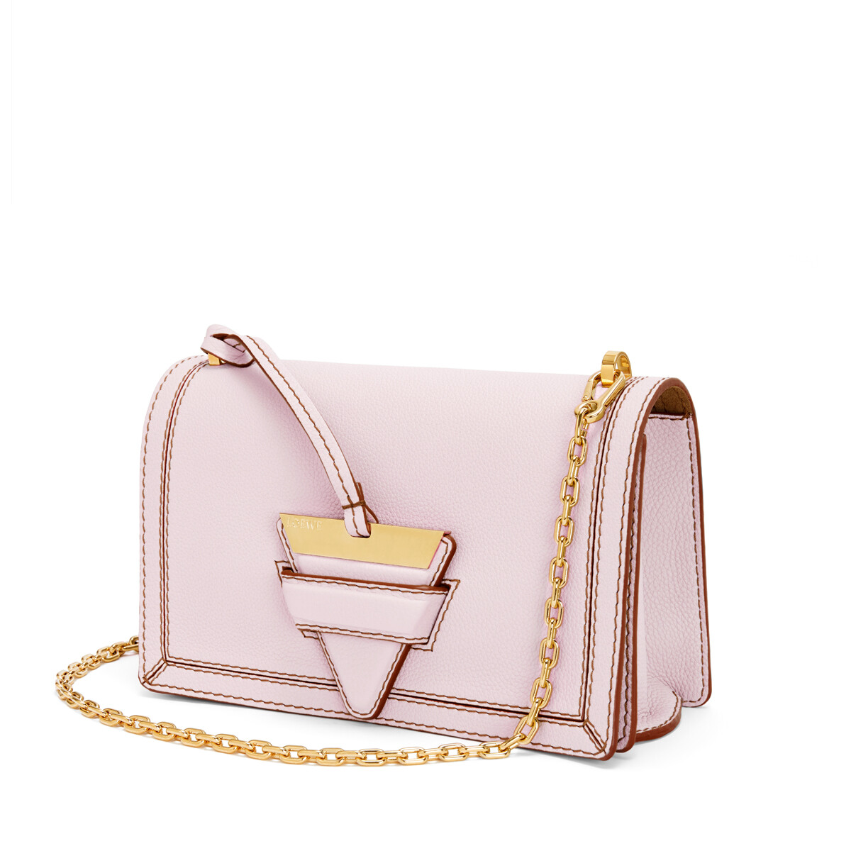 LOEWE バルセロナ ソフト バッグ Icy Pink front