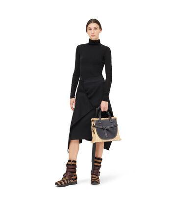 LOEWE Apron Skirt 黑色 front
