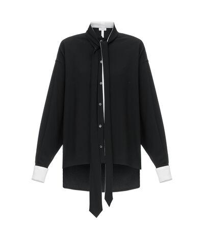 LOEWE Black & White Lavaliere Blouse Black/White front