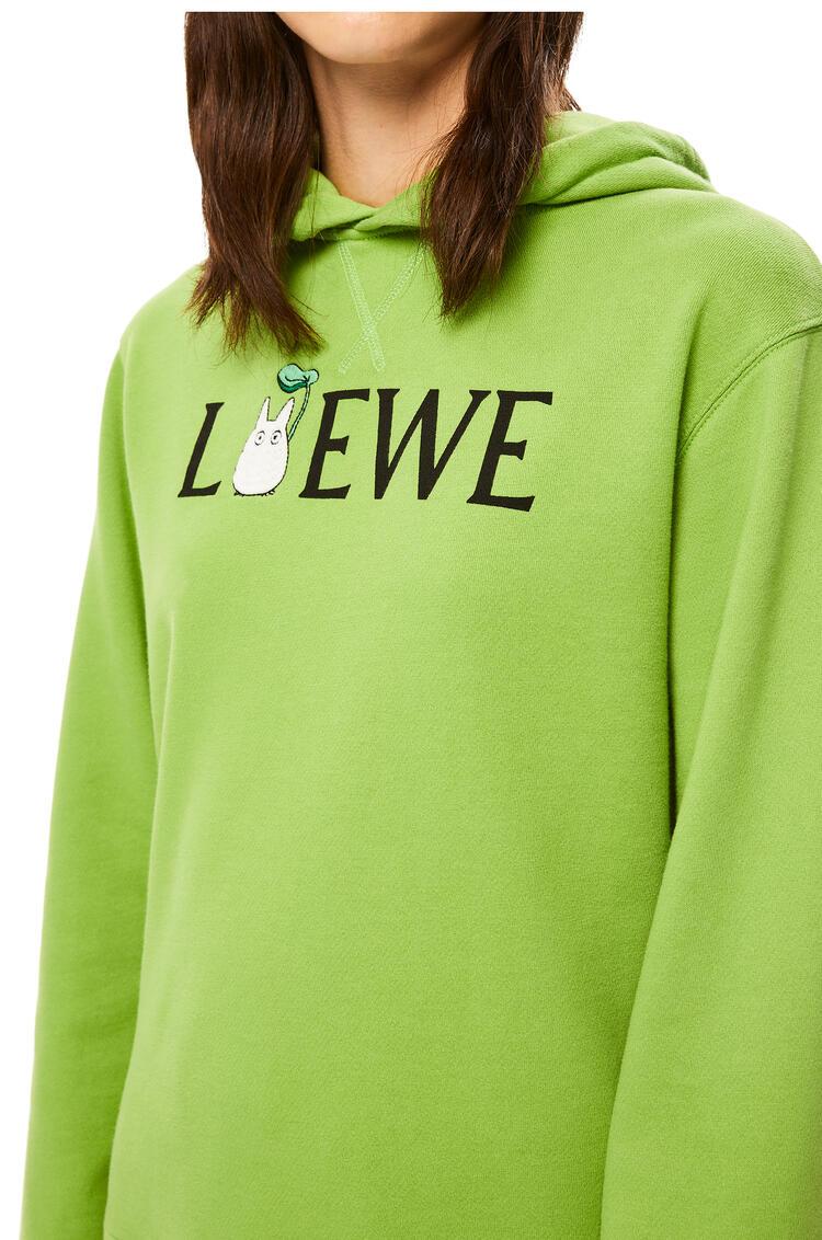 LOEWE Totoro hoodie in cotton Medium Green pdp_rd