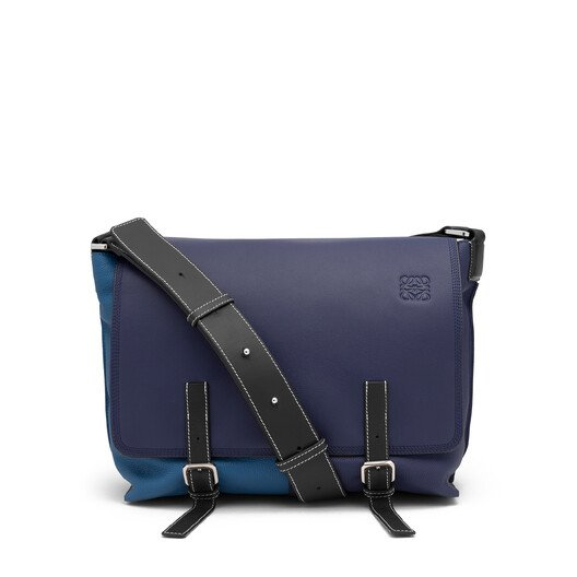 LOEWE Military Messenger Small Bag Marine Multitone front