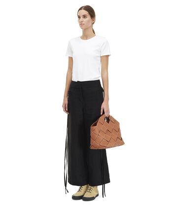 LOEWE Woven Basket Bag Tan front