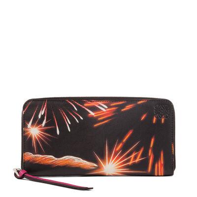 LOEWE Zip Around Wallet Fireworks Multicolor front
