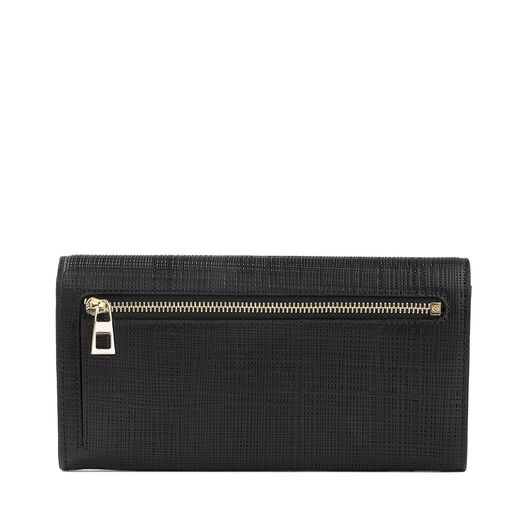 LOEWE Linen Continental Wallet Black front