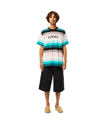 LOEWE Loewe Stripe T-Shirt マルチカラー front