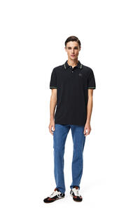 LOEWE Polo en algodón con anagrama bordado Negro pdp_rd