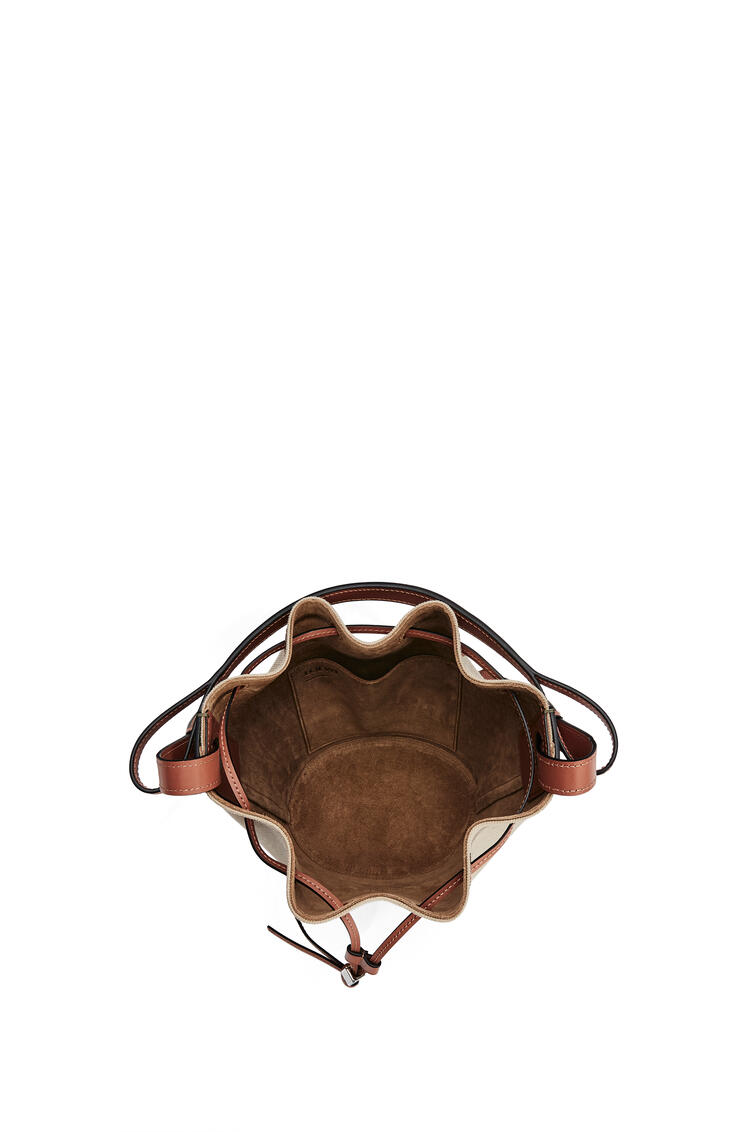LOEWE Small Balloon bag in canvas and calfskin Creta/Green pdp_rd