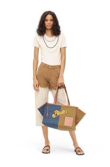 LOEWE Paula Stripe Faux Short Jeans Multicolor front