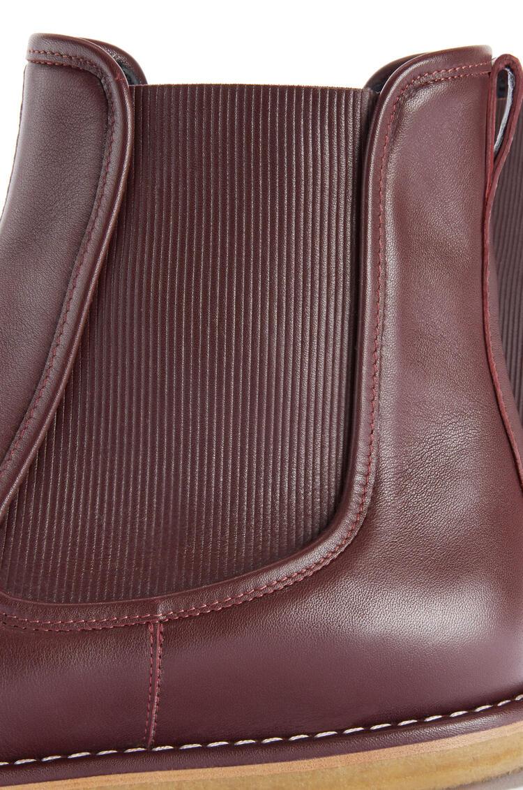 LOEWE Chelsea boot in calf Burgundy pdp_rd