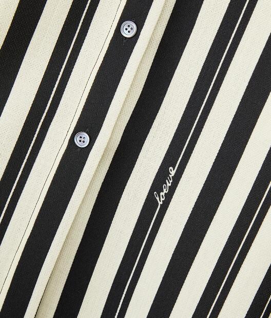 LOEWE Stripe Shirt Negro/Crudo front