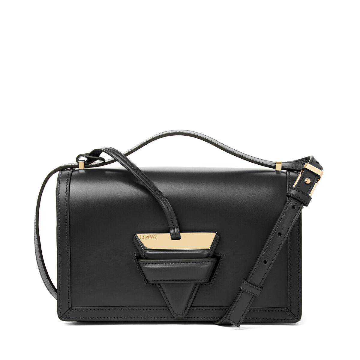 Barcelona Small Bag in Black Boxcalf Loewe PKmsRBk