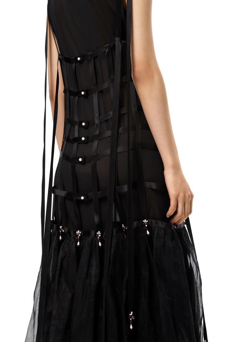 LOEWE Long dress with pearls Black pdp_rd