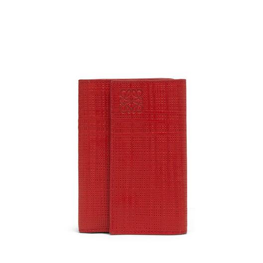 LOEWE Small Vertical Wallet Scarlet Red front