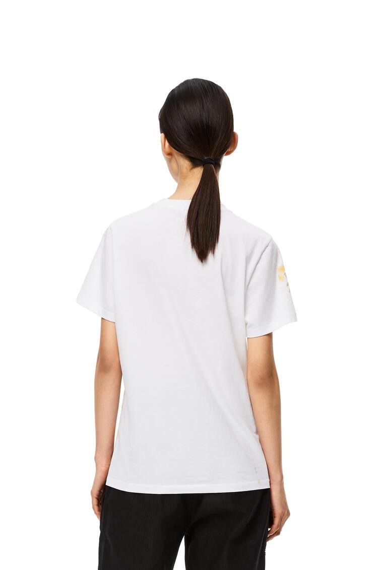 LOEWE LOEWE t-shirt in flower cotton White/Yellow pdp_rd