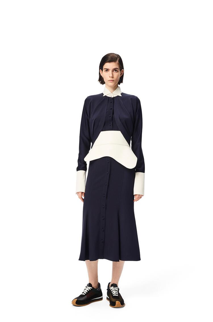 LOEWE Cape sleeve blouse Navy Blue pdp_rd